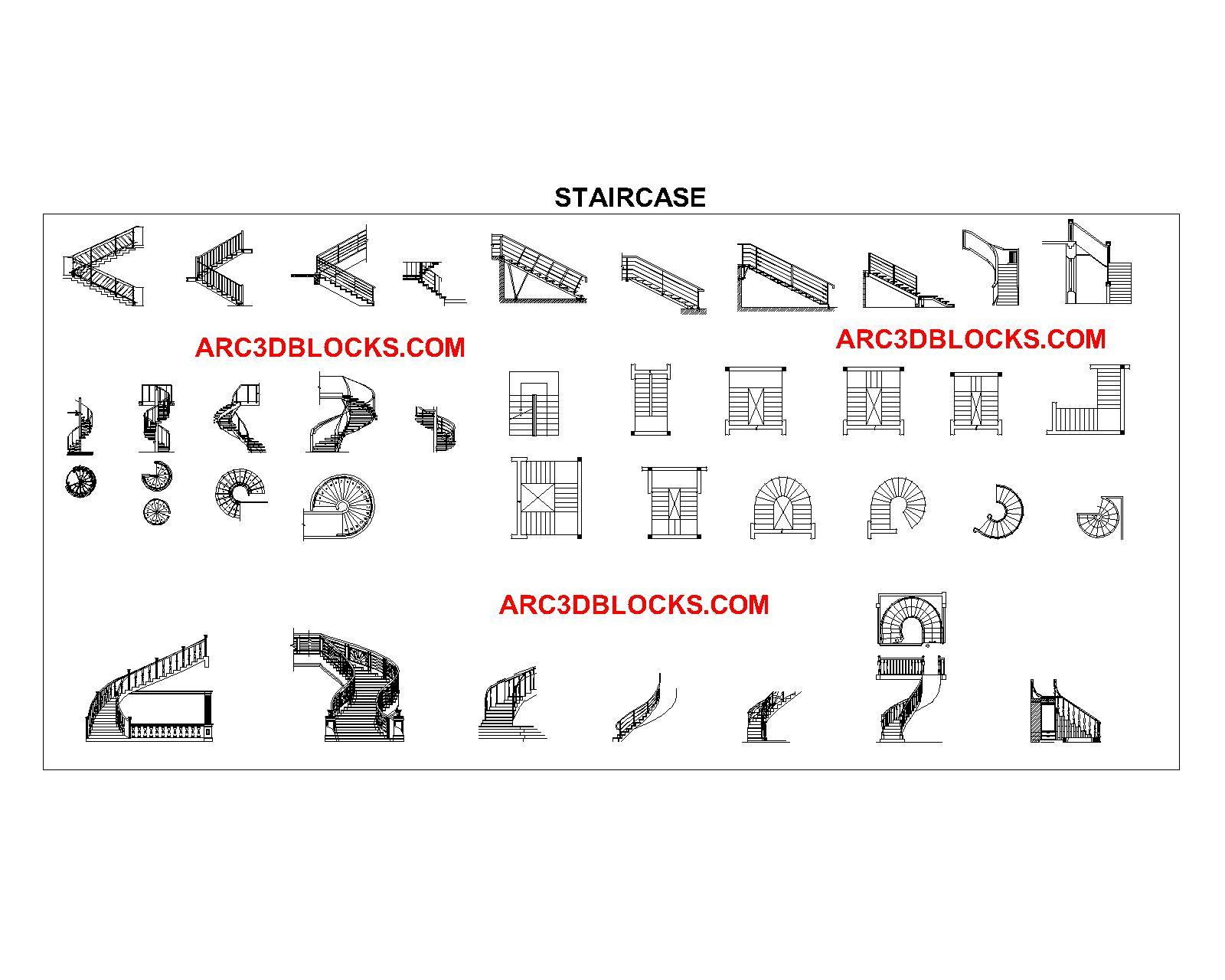 STAIRCASE CAD BLOCKS