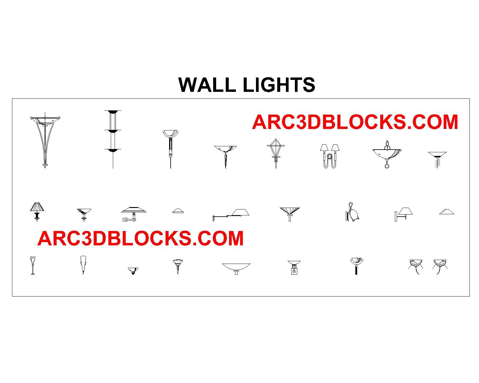 WALL LIGHT CAD BLOCKS